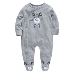 Kavkas Christmas Baby Winter Rompers Cartoon Newborn Baby Boys Clothes Long Sleeve Jumpsuits Infant Pajamas