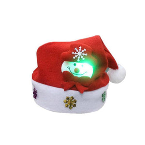 a70bd6fcba49d Kid Adult LED Cheer Christmas Hat Children Santa Claus Reindeer Snowman Xmas  Party Cute Cap wedding
