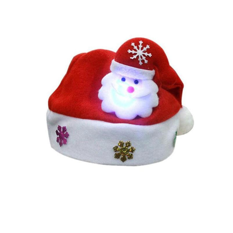 7e1420c6d233f ... Kid Adult LED Cheer Christmas Hat Children Santa Claus Reindeer Snowman Xmas  Party Cute Cap wedding ...