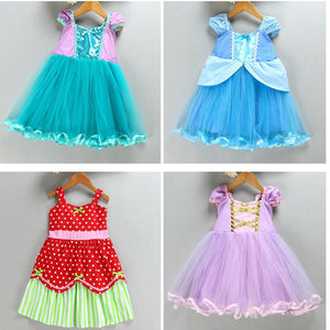 Kids Girl Princess Dress Halloween Cinderella Ariel Cosplay Fancy Party Dress Christmas Gift for Children - ShopeeShipee