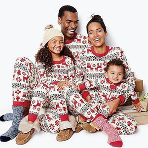 LILIGIRL 2 PCS Christmas Family Matching Cotton Clothes Set 2019 New Mother Father Daughter Son Print Home Pajamas Clothing Suit