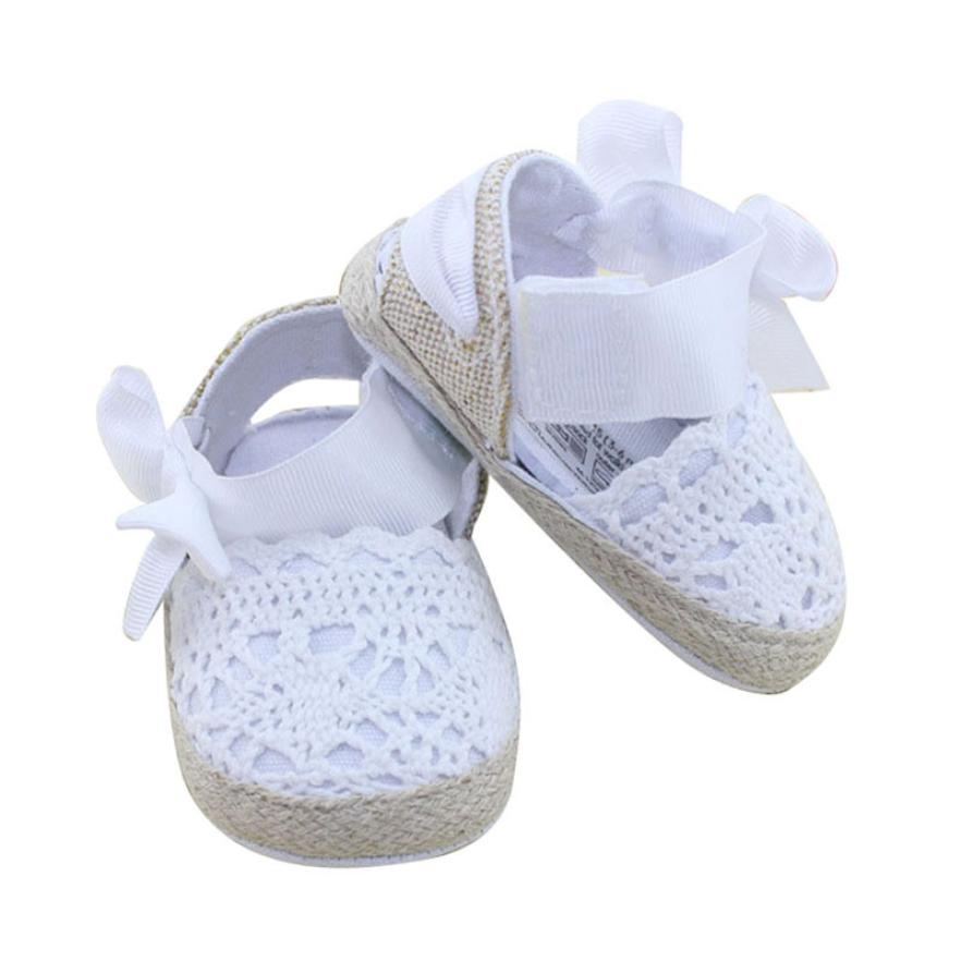 LONSANT First Walker Baby Shoes Infant Toddler Princess First Walkers Prewalker Shoes Bow Shoes