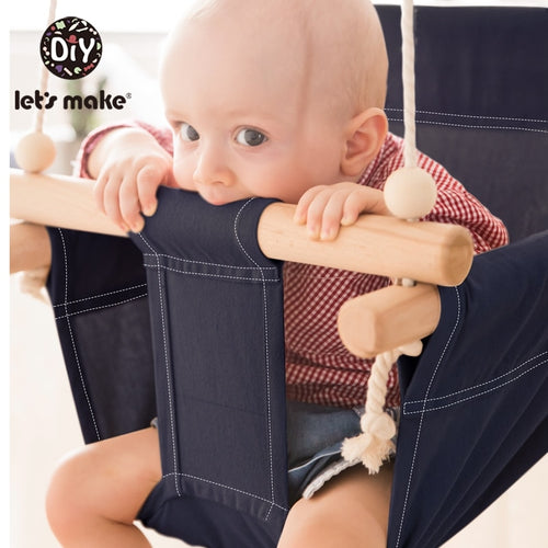 Let'S Make Cotton Baby Swing Chair Hanging Wood Children Kindergarten Toy Outside Indoor Beach Basket Swinging  Chair Baby Toy - ShopeeShipee