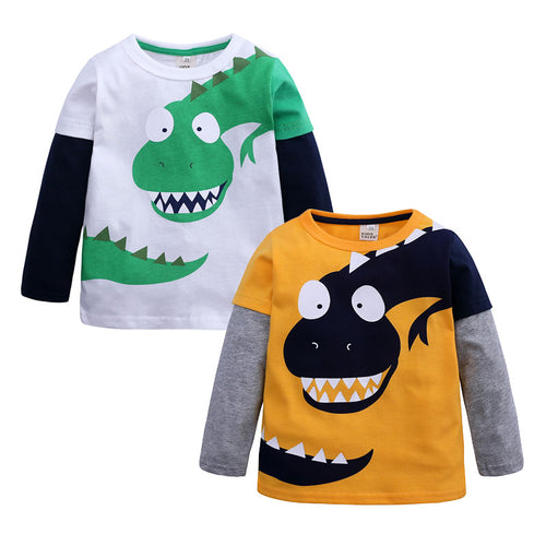 Long Sleeve Kids Boys' Clothing T-Shirts Spring Autumn Children Boy Tops Cartoon  T Shirts Cotton Kids Boys Clothes 3-10 Years - ShopeeShipee