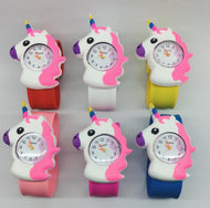 NEW MIX 30 pcs cartoon unicorn Rubber Wristwatch Kids Slap Clap Watch Watch Silicone Rubber Wrist Watch gift