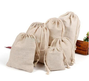 Natural Linen Gift Bag 8x10cm 9x12cm 10x15cm pack of 50 Birthday Wedding Party Candy Sack Jewelry jute Gift Drawstring Pouch - ShopeeShipee