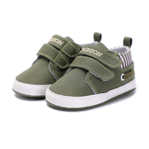New Baby Boys Girls Canvas Shoes High Quality Two Strap Newborn Baby Toddler Fashion First Walkers For 0-18 Month