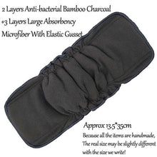 New Bamboo Charcoal Reusable Diaper Inserts Bamboo Cotton Hemp Cloth Diaper Nappy Changing Mat Microfiber Nappy Liners Washable