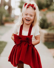 New Christmas Girl Dresses Europe Style 2018 Winter Woolen Strap Kids Dress Bow Princess Costume Vestidos for Girls Clothes 2-6Y