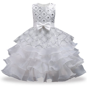 New Christmas Party Dresses For Girls,Girls Dresses Summer, New Year For Grils Clothes Flowers Princess Clothing - ShopeeShipee