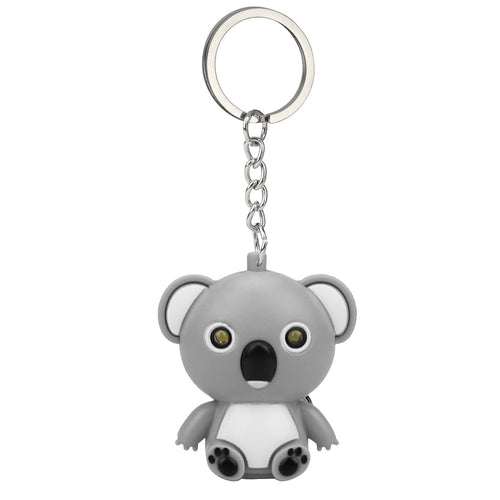 New Fashion Cute Cartoon Mini Koala Keychain With LED Light  Sound Kids Toy Gift Decorate For Phone Case Wallet Key z0503 - ShopeeShipee