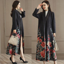 New Fashion Women Coat 2018 Spring Casual Long Sleeve Suede Long Trench Coat Female Slim Floral Print Windbreaker With Belt