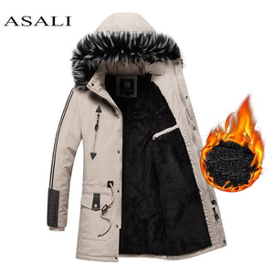 New Winter Jacket Men -15 Degree Thicken Warm Men Parkas Hooded Fleece Man's Jackets Outwear Cotton Coat Parka Jaqueta Masculina - ShopeeShipee