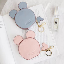 New fashion design Mickey head wallets women wallets small cute cartoon kawaii card holder key chain money bags for girls ladie
