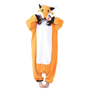 Nick Fox Onesies For Adults Kigurumi Pajamas Cartoon Orange Animal Sleepwear Men Women Cosplay Costume Christmas Pyjama Onesie