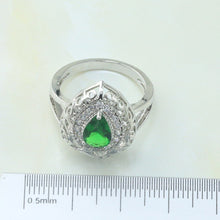 Otogo Transing Silver Color Jewelry Sets Green Clolor Top Cubic Zirconia for Women best Gift Earrings/Pendant/Necklace/Ring S185