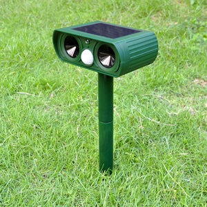 Outdoor Garden Solar Charge 25kHz Ultrasound Dog Repeller 8m Automatic PIR SENSOR Animal Repeller Cats, birds snakes 380MM*95MM