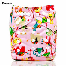 PORORO brand all in one size reusable pocket diaper with snap button closure,super soft washable baby cloth diaper nappy cover