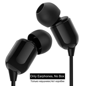 PTM Bass Headphone Sound Great Earphone In-Ear Sport headset fone de ouvido for xiaomi iPhone 3.5 mm jack Red black white Earbud