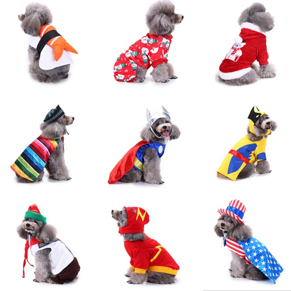 Christmas Dog Costumes.Pet Dog Clothes Halloween Costume For Small Dogs Clothes Christmas Dog Coat Jackets Birthday Party Transform Costumes Chihuahua