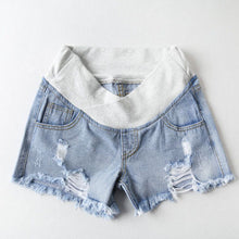Pregnant Women's Shorts Summer Wear Low-waisted Denim Shorts  Summer Wear New Spring Loose Pants for Pregnant Women Clothes