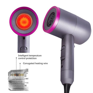 Professional Supersonic Hair Dryer Salon Styling Negative Ionic Blow Dryer Household Hammer For Fast Drying Straight Hair Blow - ShopeeShipee