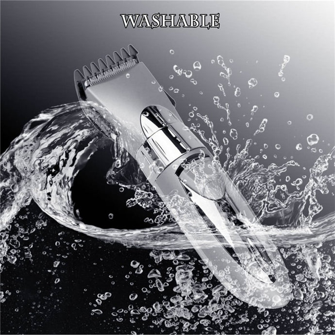 Professional Waterproof Electric Hair Clipper Rechargeable Razor Hair Trimmer Hair Cutting Machine Beard Trimer Men Shaver P49 - ShopeeShipee