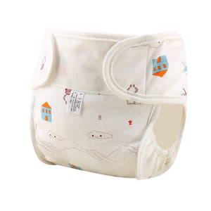 Pure Cotton Baby Reusable Nappies Diaper Waterproof Washable Cloth Diapers Cover Boy Girl Underwear Nappy Changing