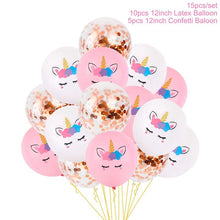 QIFU Balloon Unicorn Birthday Party Balloon Rainbow Birthday For Children Happy Unicorn Birthday Banner Party Decor Kid Favor