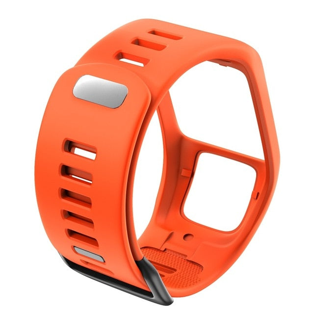 Quality Silicone Replacement Wrist Watch Band Strap For TomTom Runer 2/3/2 Cardio/Spark 3 Sport Watch For TomTom 2 3 Series