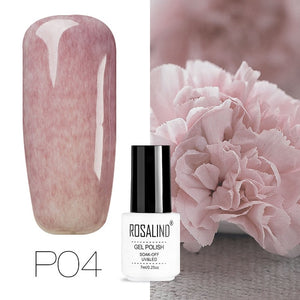ROSALIND Hybrid Varnishes Gel Nail Polish UV Primer All For Manicure Semi Permanent Soak Off 7ML Gel Lak Top Base Nail Lacquer