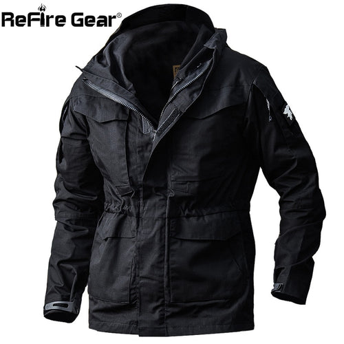 ReFire Gear Army Field Tactical Jacket Men Waterproof Rip-stop Camouflage Military Jackets Autumn Multi-Pockets Windbreaker Coat - ShopeeShipee
