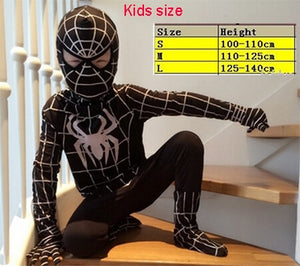 Red Black Spiderman Costume Spider Man Suit Spider-man Costumes Adults Children Kids Spider-Man Cosplay Clothing