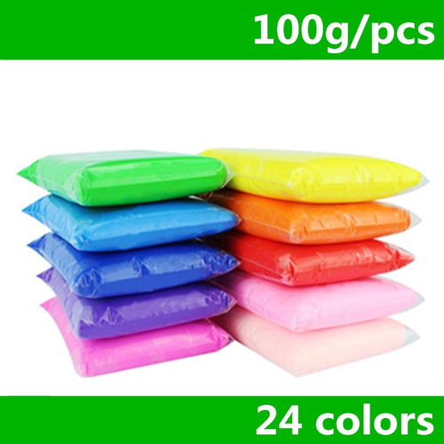 Retail 100g/bag 24 colors DIY safe and nontoxic Malleable Fimo Polymer Clay playdough Soft Power toys - ShopeeShipee