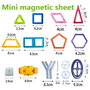 Retail 1pcs Mini Magnetic Designer Toy Kids Educational Toys Plastic Creative Bricks Enlighten Magnetic Building Blocks - ShopeeShipee