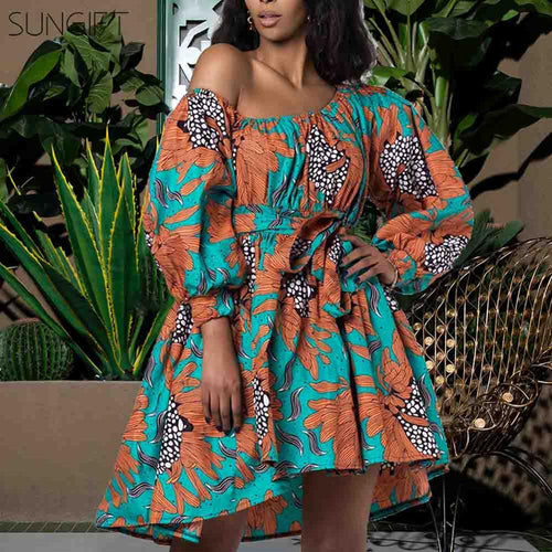 Dashiki 2020 New Fashion African Dresses for Women Summer Tilting Shoulder Two Wear Africa Style Print Dashiki Top - ShopeeShipee