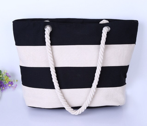 Striped summer beach bag - ShopeeShipee