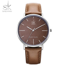 Shengke Genuine Leather Women Watches Luxury Brand Quartz Watch Casual Ladies Watches Women Clock Montre Femme Relogio feminino