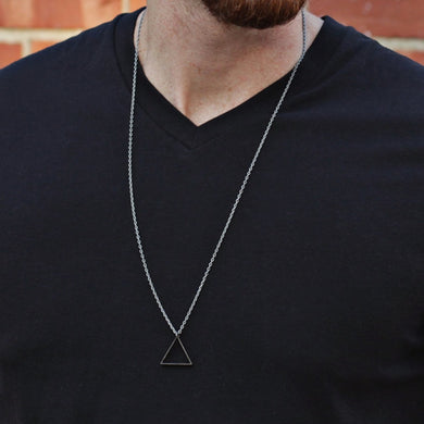 Simple Black New Pendant Necklace Men 2019 Fashion Stainless Steel Long Necklace For Men Party Jewelry Gift