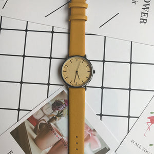 Simple style men and women quartz watches fashion minimalist lover's leather watch Bgg luxury brand casual unisex wristwatches - ShopeeShipee
