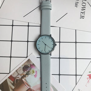 Simple style men and women quartz watches fashion minimalist lover's leather watch Bgg luxury brand casual unisex wristwatches