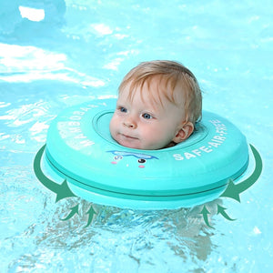 Solid Safety Not Need Inflatable Baby swim Floating Neck Ring Swimming float for Accessories baby swimming pool - ShopeeShipee