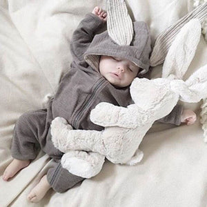 Spring Autumn Newborn Baby Clothes Bunny Baby Rompers Cotton Hoodie Newborn Girl Onesies Fashion Infant Costume Boys Outfits - ShopeeShipee