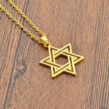 Star Of David Pendant Necklace Jewelry Stainless Steel/Gold Color Chain Charms Hexagram Necklace Men/Women