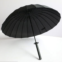 Stylish Black Japanese Samurai Ninja Sword Katana Umbrella Sunny & Rainny Long-handle Umbrellas Semi-automatic 8, 16 or 24 Ribs - ShopeeShipee