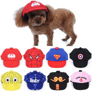 Summer Dog Hat Baseball Cap With Ears For Small Dogs Cat Hats Pet Tourism Goods Accessories Halloween Christmas Photos Props