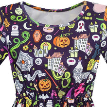 Sunny Fashion Girls Dress Halloween Pumpkin Lantern Ghost Costume Dress 2018 Summer Princess Wedding Party Dresses Size 4-10