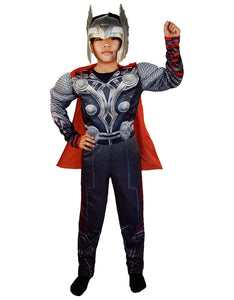 SuperHero Kids Muscle Thor Cosplay Costumes Clothes With Harmmer Avengers Child Super Hero Halloween Costumes Children's Day - ShopeeShipee
