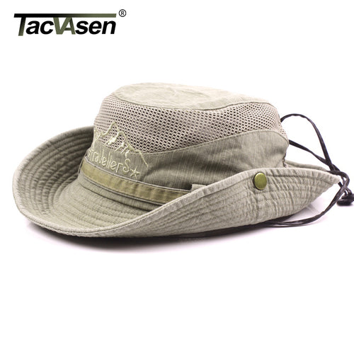 TACVASEN Military Men Tactical Hats Caps Sun Boonie Hat Summer Sun Protection Cap Men's Safari Army Fish Hunt Hats Adjustable - ShopeeShipee