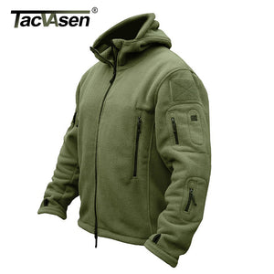 Winter Airsoft Military Jacket Men Fleece Army Tactical Jacket Thermal Hooded Jacket Coat Outerwear Hoody Mens Clothing